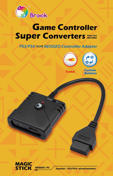 Brook Retro Converter: PS3/PS4 to NeoGeo & Omega Adapter