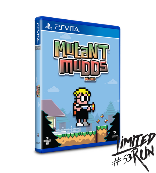 LIMITED RUN #53: MUTANT MUDDS DELUXE (VITA), PlayStation Vita, VideoGamesNewYork, VGNY