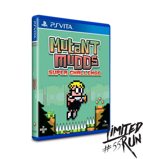 LIMITED RUN #55: MUTANT MUDDS SUPER CHALLENGE (VITA), PlayStation Vita, VideoGamesNewYork, VGNY
