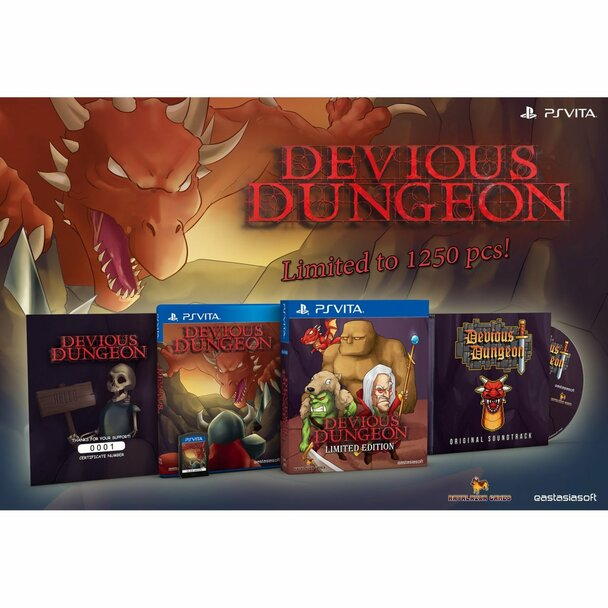 DEVIOUS DUNGEON [LIMITED EDITION],  PlayStation Vita, VideoGamesNewYork, VGNY