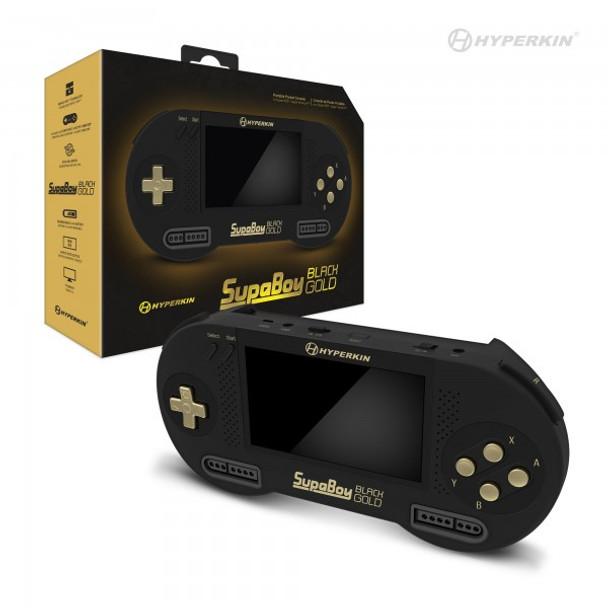 SupaBoy BlackGold Portable Pocket Console for Super NES / Super Famicon
