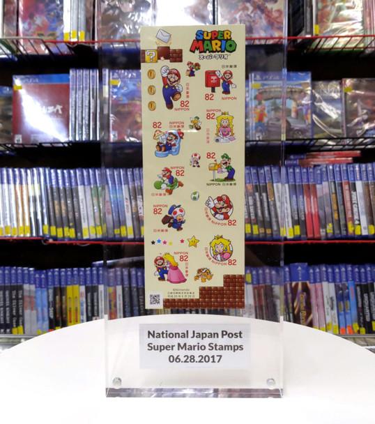 Super Mario Stamps National Japan Post [FRAMED]