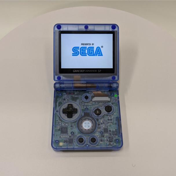 Nintendo GBA SP w/ IPS LCD [CLEAR BLUE]