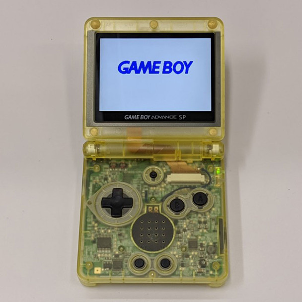Nintendo GBA SP w/ IPS LCD [CLEAR YELLOW]