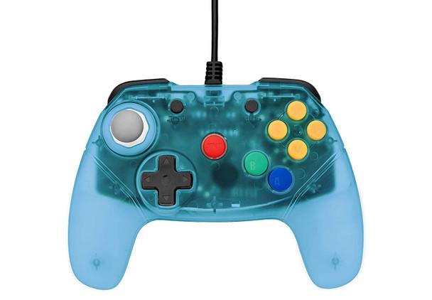 Brawler64 Controller - Blue (Nintendo 64)