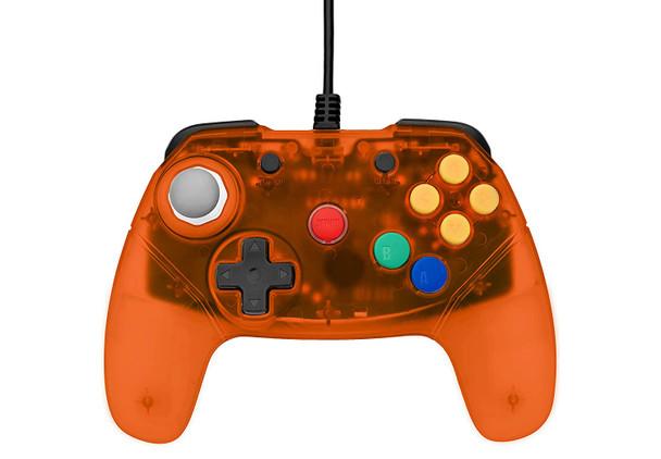 Brawler64 Controller - Orange (Nintendo 64)