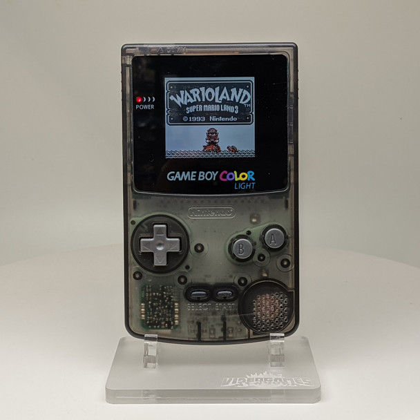 Nintendo GameBoy Color System w/ TFT LCD (CUSTOM) CLEAR SMOKE