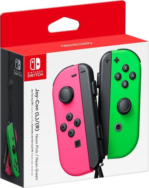 Joy-Con Wireless Controllers - Neon Pink/Neon Green (Nintendo Switch)