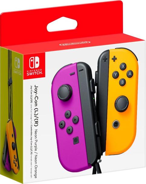 Joy-Con Wireless Controllers - Neon Purple/Neon Orange (Nintendo Switch)