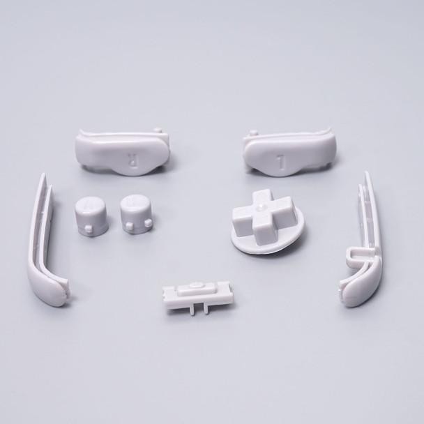 Gameboy Advance - Button & Bumper Set - GREY (GBA)