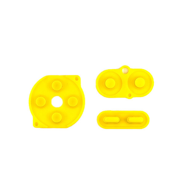 Gameboy Color - Silicon Pad Set -  YELLOW (GBC)