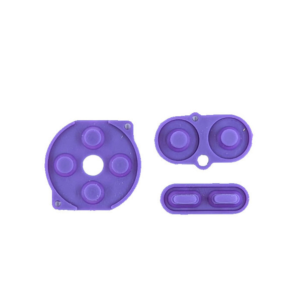 Gameboy Color - Silicon Pad Set -  PURPLE (GBC)