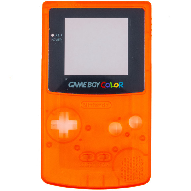 GameBoy Color Replacement Shell - PRECUT - Clear Orange(GBC)
