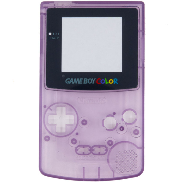GameBoy Color Replacement Shell - PRECUT - Clear Atomic Purple(GBC)