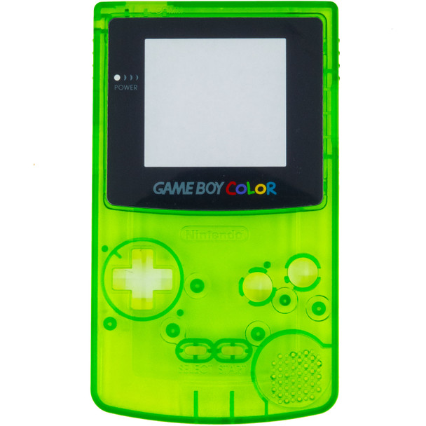 GameBoy Color Replacement Shell - PRECUT - Clear Green(GBC)