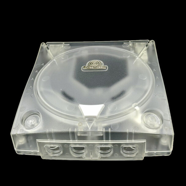 Dreamcast Replacement Shell - Clear White w/ Metal Decal (Sega Dreamcast)