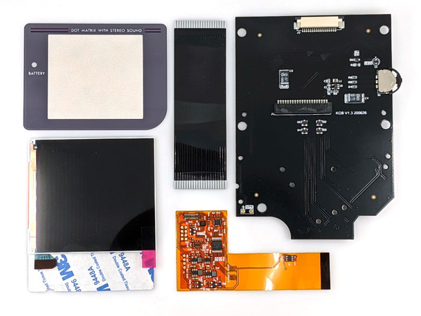 Gameboy Original RETRO PIXEL DMG IPS LCD Kit (DMG)