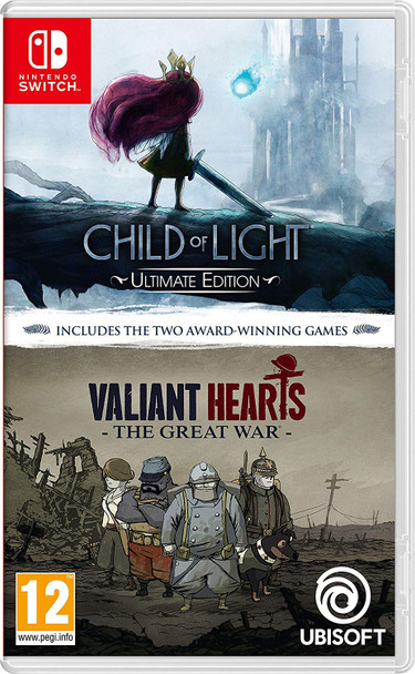 CHILD OF LIGHT: ULTIMATE EDITION / VALIANT HEARTS: THE GREAT WAR DOUBLE PACK  (European Import) Nintendo Switch