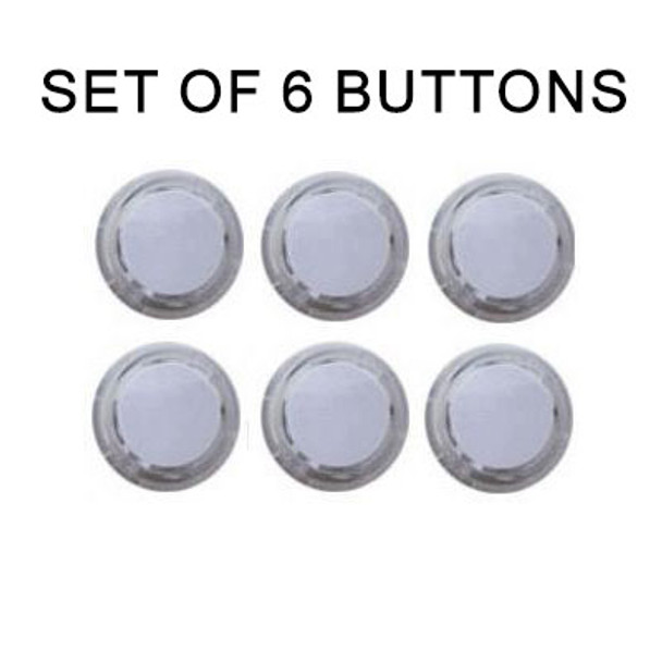 Seimitsu 6pcs PS-14-K Snap-In Buttons, Push Button Sets, VideoGamesNewYork, VGNY