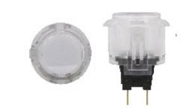 OBSC-24 CLEAR, Sanwa 24mm, Clear Buttons, VideoGamesNewYork, VGNY