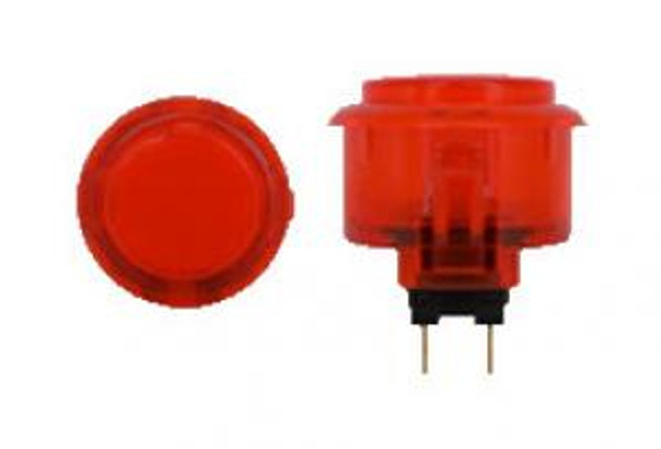 OBSC-30 RED, 30mm Clear Buttons, VideoGamesNewYork, VGNY