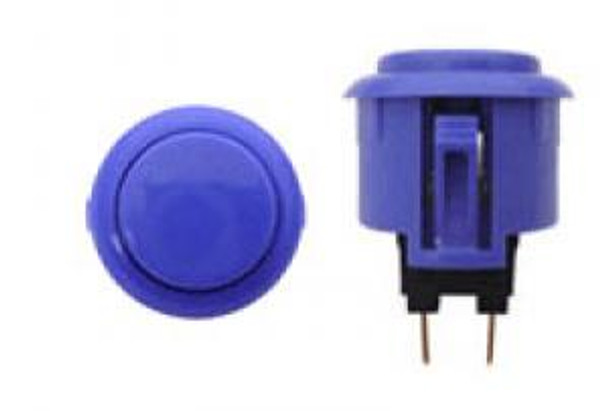 OBSF-24 DARK BLUE, 24mm Solid Color Buttons, VideoGamesNewYork, VGNY