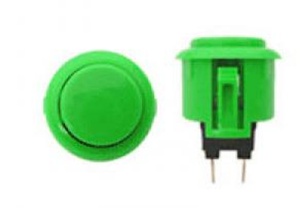 OBSF-24 GREEN, 24mm solid color buttons, VideoGamesNewYork, VGNY