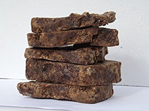African Black Soap 100% natural -  1.0 lbs - African traditional black soap is one of the most beneficial yet unheard of soaps you will ever find. Made from dried plantain skins, palm leaves, cocoa pod powder, and kernel oil for an all-natural cleansing process. Plantains skins are largely what make this soap so effective.