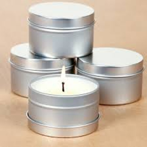 """Exotic Oud Scented 8 oz. Soy Candle No. 2 -  Sicilian Bergamot, Green Leaves, Lemon, Lavender, White Lilies, Tonka Amber, Exotic Oud, Vanilla.  8 oz., hand poured, soy candle, made with natural essential oils and cotton wick for a clean burn. 8 oz Soy Candle, approximately 45 hours of burn time. Dimensions of candle tin: 2"""" x 2.95""""  This soy based wax is free of paraffin to ensure a higher quality, clean burning, candle. All candles are made in small batches to ensure quality control.  Tins are a great option because they do not burn as hot as glass, and the containers are recyclable and/or reusable!"""