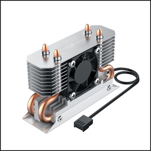 Nitro M.2 Dual cooler Heatsink with 30 mm PWM fan