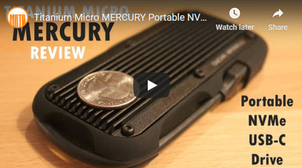 Titanium Micro MERCURY Portable NVMe drive review