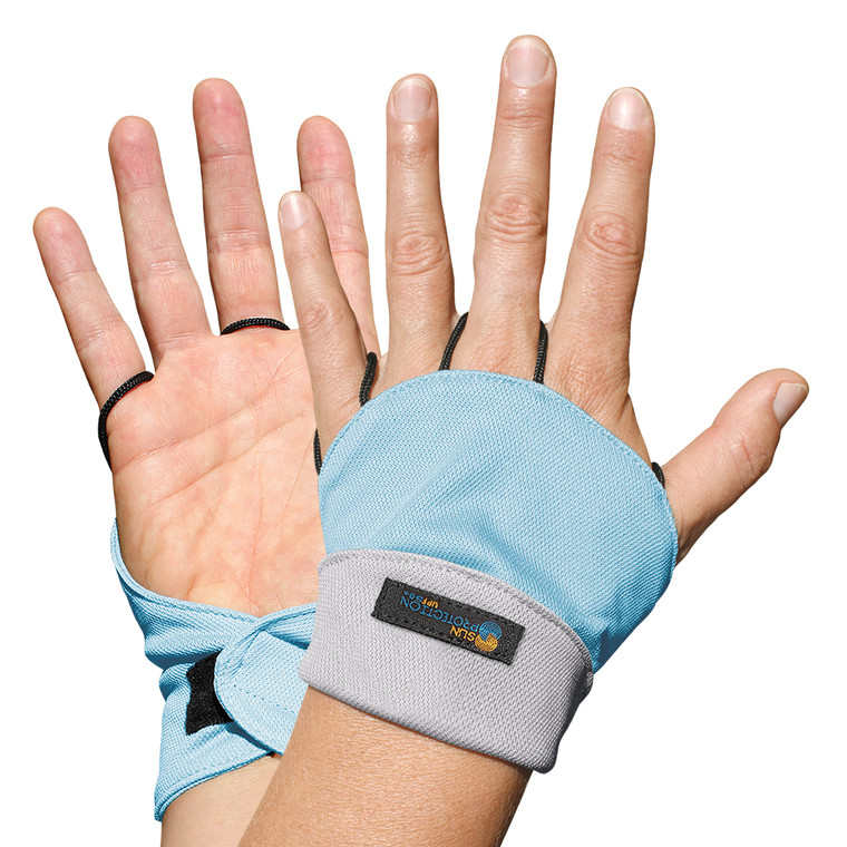 Palmless Glove Artic Sky/Delta UPF50+ Sun Protection