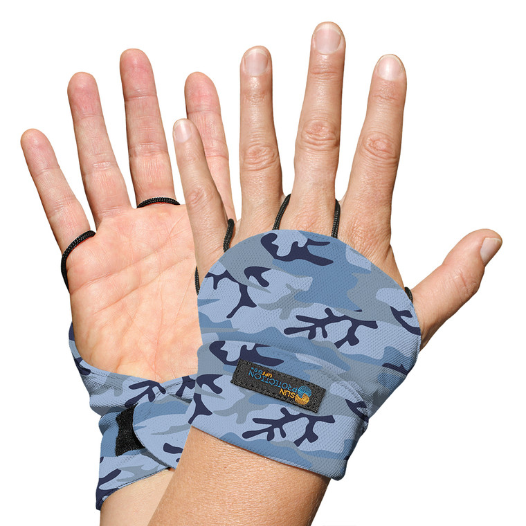 Palmless Glove Marine Camo UPF50+ Sun Protection