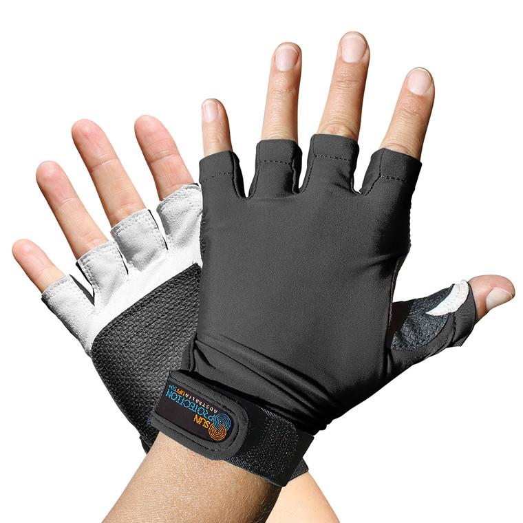 Sports Glove Black UPF50+ Sun Protection