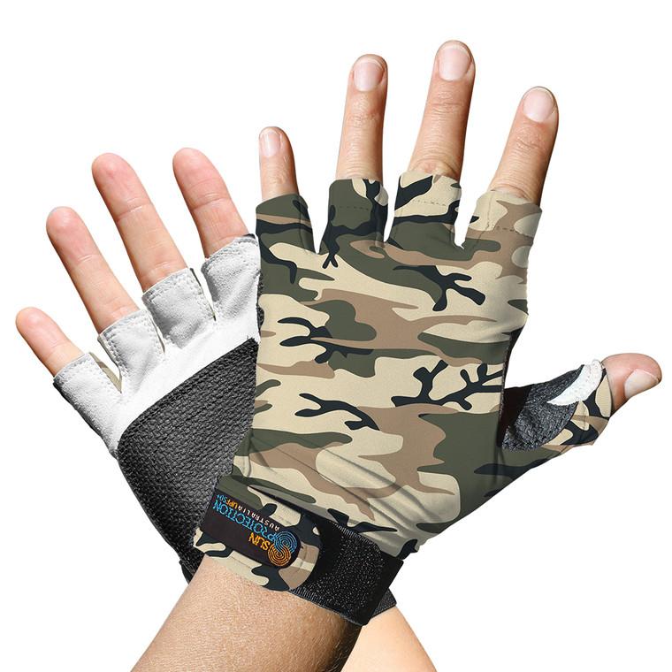Sports Glove Sand Camo UPF50+ Sun Protection