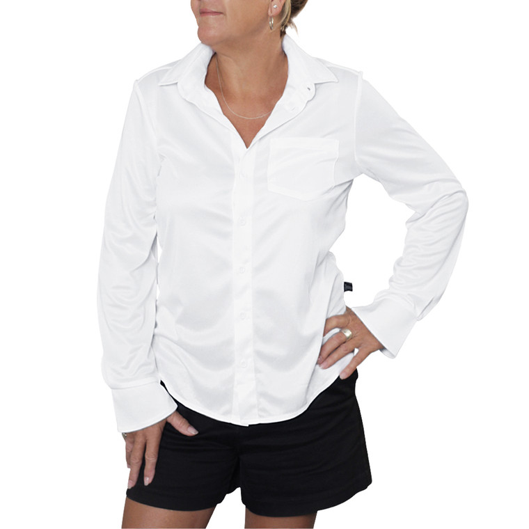 Ladies Outdoor Shirt White UPF50+ Sun Protection