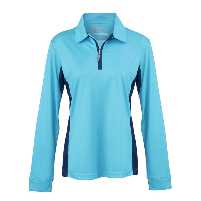 Ladies Polo Teal UPF50+ Sun Protection