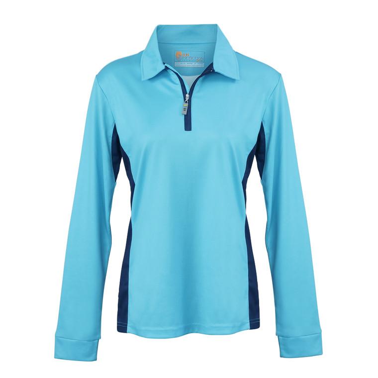 Ladies Polo Teal UPF50+ Sun Protection