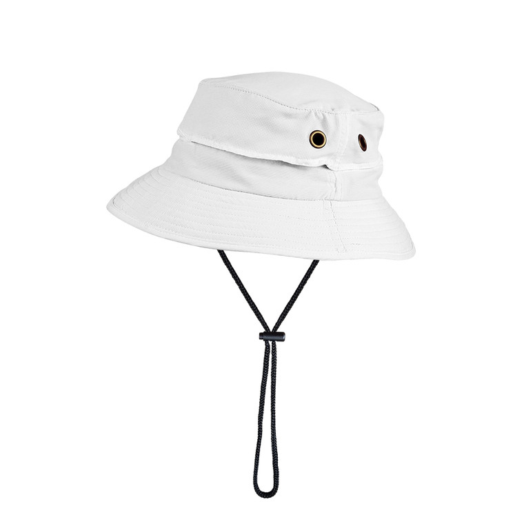 Bucket Hat White UPF50+ Sun Protection