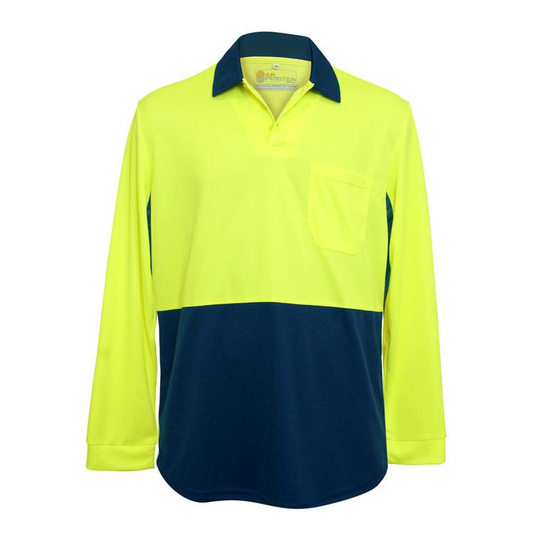 Men's Workwear Polo Fluro Yellow UPF50+