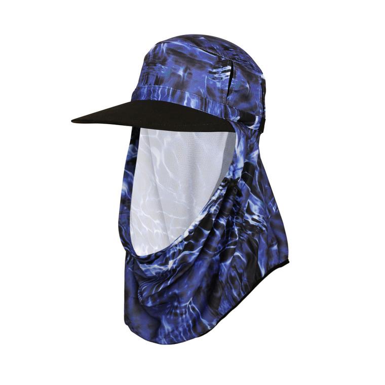Adapt-A-Cap Blue Water Ripple UPF50+ Sun Protection Hat