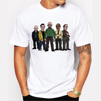 New Hand Painted Breaking Bad Actor Design T-shirt Mens Hipster Tops 2019