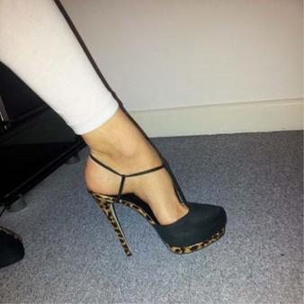 SHOFOO shoes,Beautiful fashion women's shoes, suede, slingbacks, about 14.5 cm high heels, round toe pumps.SIZE:34-45
