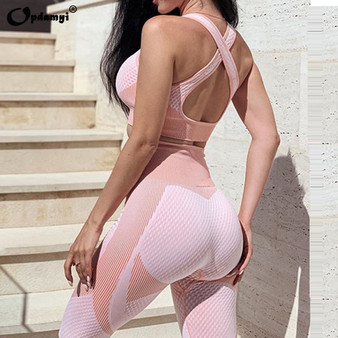 Seamless Workout Yoga Sets Female Sport Gym suit Wear Running Clothes women Fitness Sport Leggings Long Sleeve yoga clothing Bra