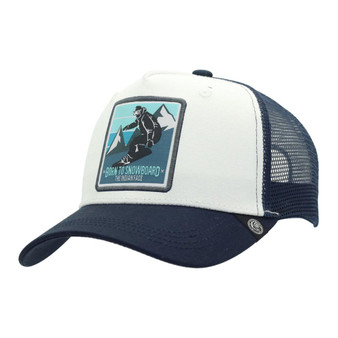 Trucker Cap Born To Snowboard White The Indian Face For Men And Women
