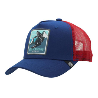 Trucker Cap Born To Snowboard Blue The Indian Face For Men And Women