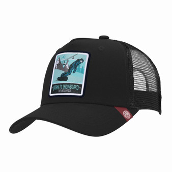 Trucker Cap Born To Snowboard Black The Indian Face For Men And Women
