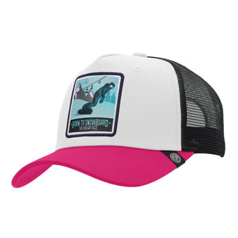 Trucker Cap Born To Snowboard White The Indian Face For Men And Women - 45516936