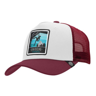Trucker Cap Born To Climb White The Indian Face For Men And Women