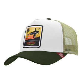 Trucker Cap Born To Surf White The Indian Face For Men And Women